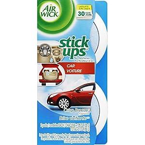Air Wick Stick Ups Car Air Freshener, Crisp Breeze, 2ct