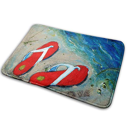 Love My Flipflops Painting Bath Mat Doormat Indoor Outdoor Entrance Amazing Floor Welcome Mats Bathroom Rug