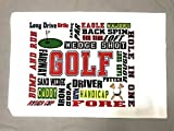 Bunnies and Bows Golf Chatter Standard Pillowcase