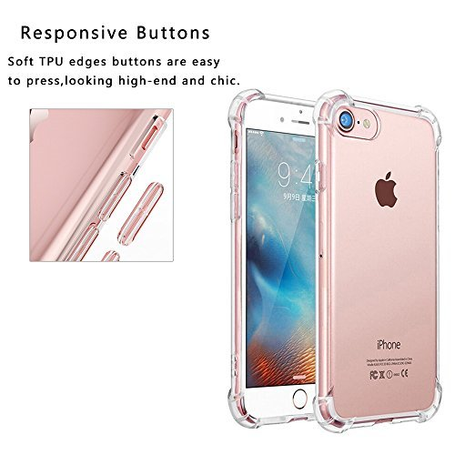 iPhone 7P KAMAL STAR [Crystal Clear] Stoßfest [Ultra Dünn] Transparent Hülle Bumper Cover TPU Weich Durchsichtige Handyhülle Schutzhülle für iPhone (K Clear)