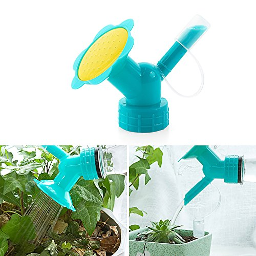 SMYLLS Dual Sided Bottle Watering Can Spout Cap Conveter Garden Tools ()