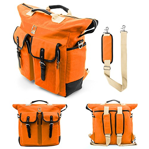 Lencca Premium Backpack Carrying Shoulder Bag for HP Elite, Envy, Pro, Pavilion, Omni, 10, Dragon, Microsoft Surface, iRULU, Tagital Fit up to 12.2 inch Tablet Convertibles Book