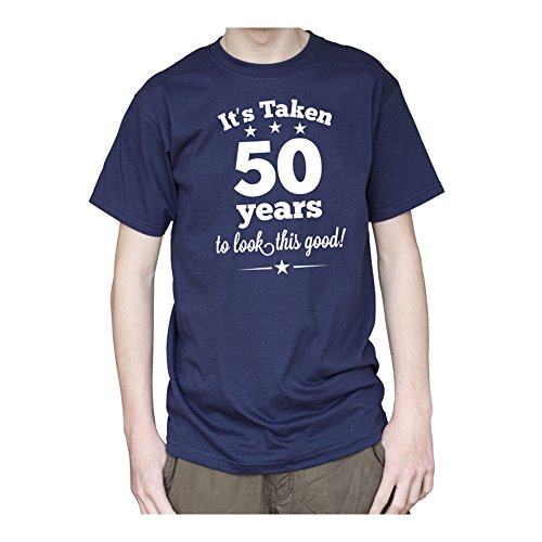 Big Red Egg Herren T-Shirt, Einfarbig Blau Marineblau
