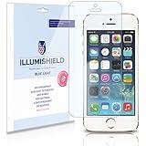 iPhone SE Screen Protector (Apple iPhone 5S,5 SE,5SE)[2-Pack], iLLumiShield - (HD) Blue Light UV Filter / Premium Clear Film / Anti-Fingerprint / Anti-Bubble Shield - Lifetime Warranty
