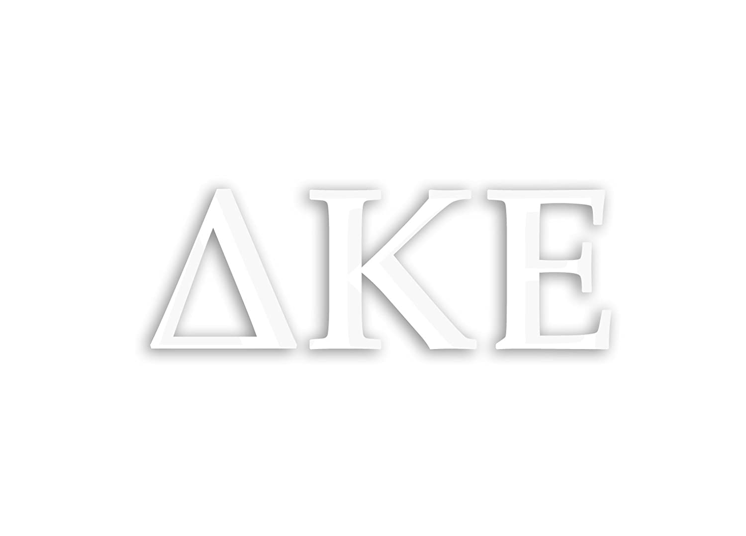 Officially Licensed Delta Kappa Epsilon 8 x 3 Window Decal White