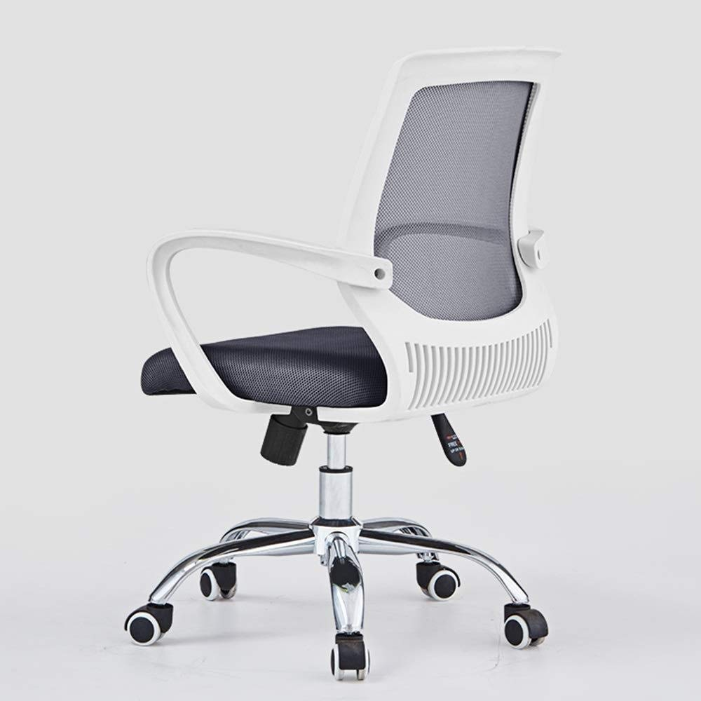 Barstolar Xiuyun kontorsstol spelstol student sovsal lärande stol dator uppgift stol stol stol stol stol stol stol höjd justerbar bärvikt 120 kg (färg: svart) Vitt