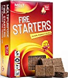 Fire Starters 160 Squares Charcoal Starter for Grills, Campfire, Fireplace, Firepits, Smokers. No flare ups & flavor. FireStarter for wood & pellet stove. Waterproof robust squares