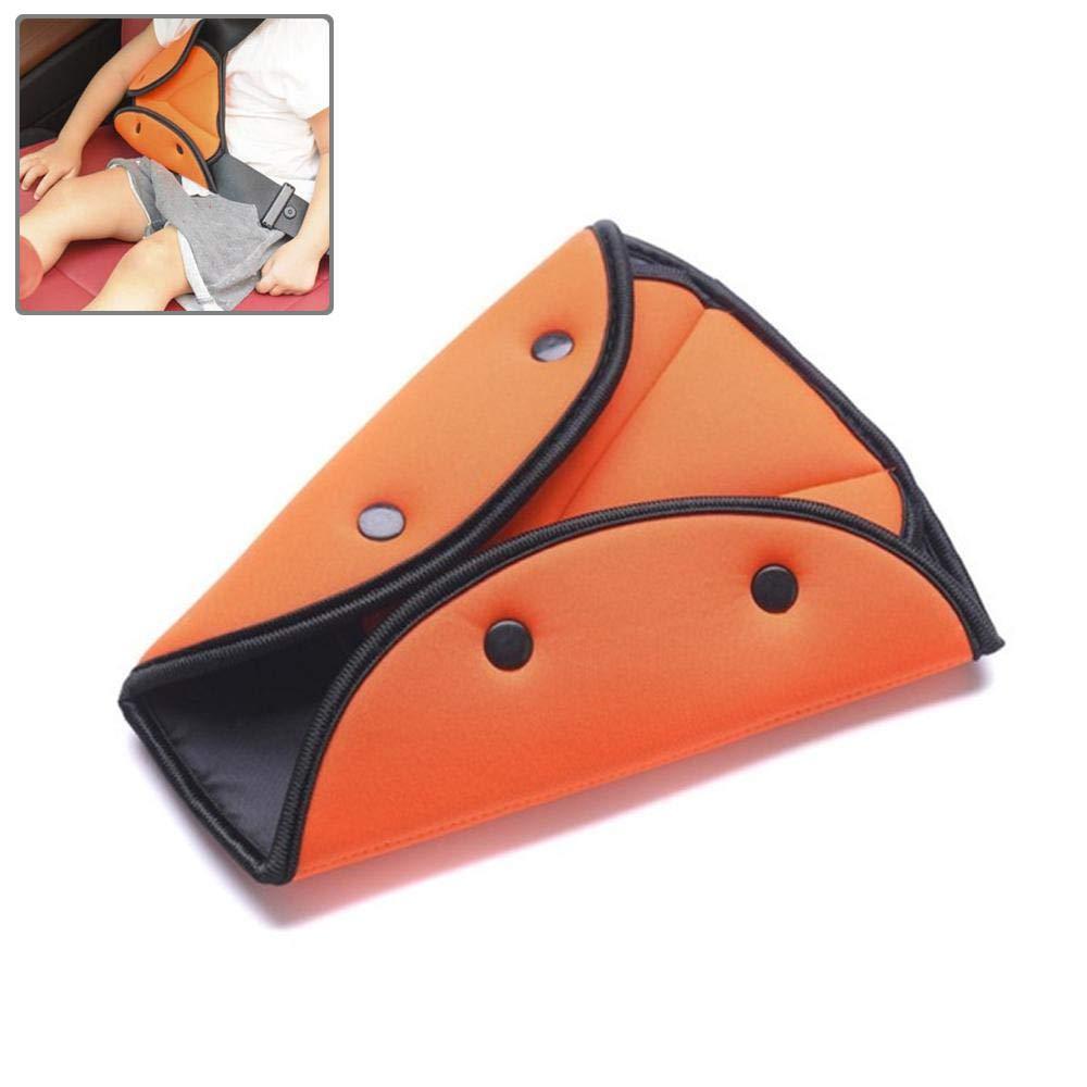 cintura di sicurezza con sella speciale per bambini in cotone traspirante blu//arancione//rosso//grigio Kobwa cintura di regolazione triangolo del Pad di regolazione di Cars