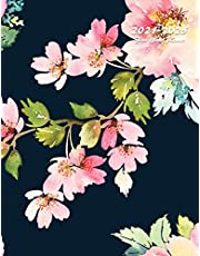 2021-2025 Five Year Planner: 60-Month Schedule Organizer 8.5 x 11 with Floral Cover (Volume 1)