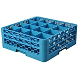 "Carlisle RG16-214 FBA_RG16214 16 Compartment Glass Rack with 2 Extenders, 7.12"", Carlisle Blue"