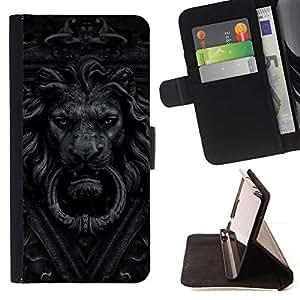 Momo Phone Case / Flip Funda de Cuero Case Cover - Timbre León Gris Negro Blanco Pomo - Sony Xperia Z3 Compact
