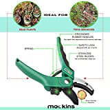 mockins Professional Garden ANVIL Pruning Shears, Tree Trimmers Secateurs, Hand Pruner, Stainless Steel Blades| 8 mm Cutting Capacity