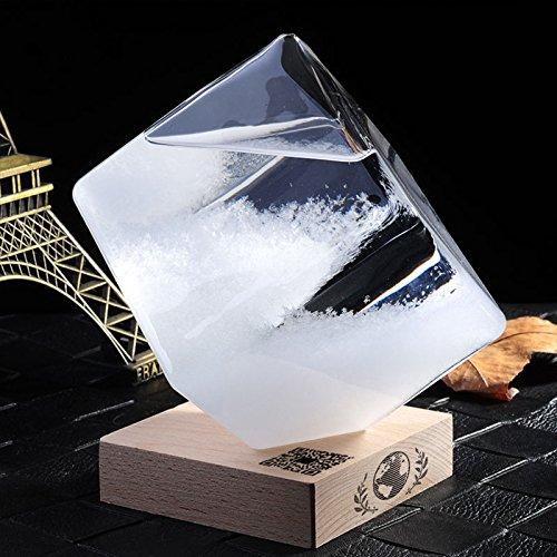 QIZIANG Wettervorhersage Wettervorhersage Wettervorhersage Crystal Storm Glas Würfelform Forecaster Flasche Barometer Dekor Geschenk Hot B07Q7P3PKW | Moderne und stilvolle Mode  788f36