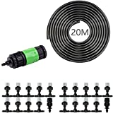 CISNO Garden Patio Greenhouse Water Mister Air Misting Cooling System Sprinkler Nozzle Micro Irrigation (20m)