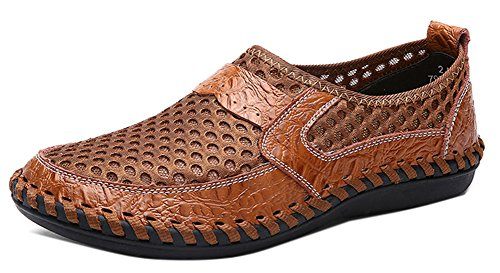 Plate Antidérapant Chaussure Brun Homme Slip Confortable Easemax Mocassins on R4nagwt