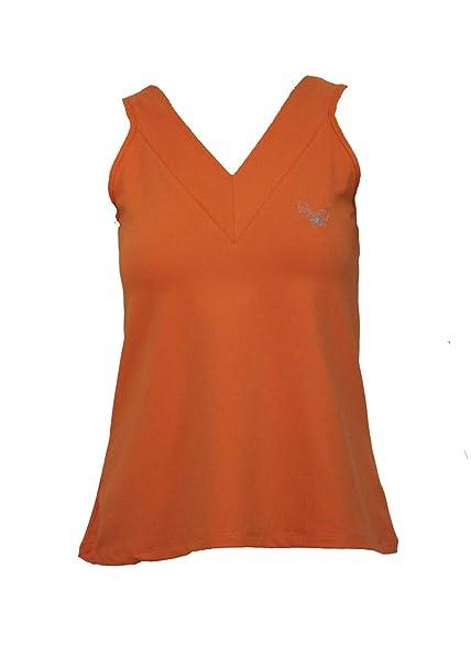 La Mouche Padel Camiseta de Mujer básica Naranja: Amazon.es ...