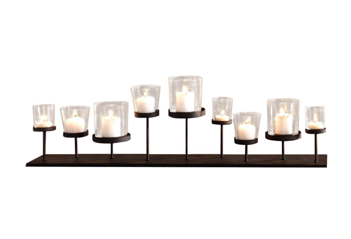 PierSurplus Pedestal Candle Centerpiece w/Nine Metal Candle Holders CL229875