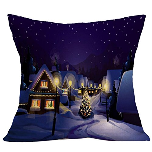[Gotd Home Decoration Christmas Pillow Cushion Cover Square Decorative Throw Pillow Cover Colored Pillowcases Cushion Christmas Gifts Ornaments Dector] (Halloween Costumes 03)