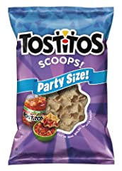 TOSTITOS Scoops! Tortilla Chips are a dip lover's dream. Every bite is like a miniature chip bowl, ready to dip and pop straight into your mouth. It's everything you love about TOSTITOS original chips' texture and taste, perfectly conf...