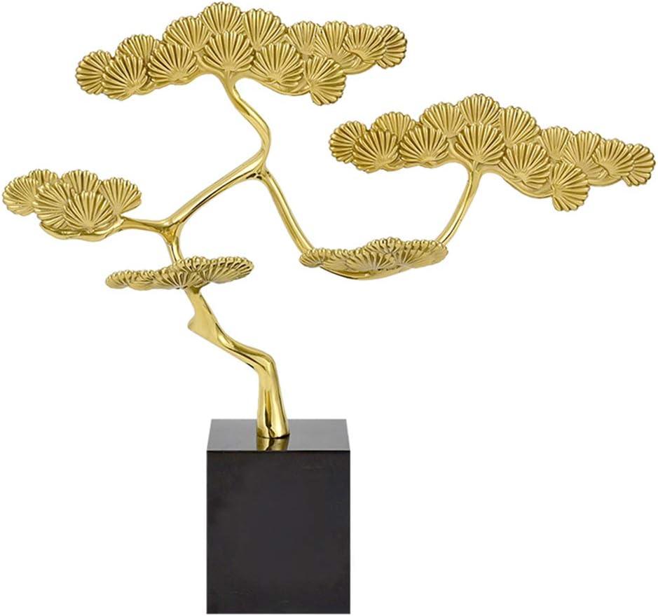 クリエイティブ純銅美術工芸の木のモデリング装飾歓迎パイン装飾クラシック手作りの彫像ハイグレードハウスオフィスの装飾