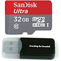Sandisk Ultra micro SDHC Micro SD UHS-1 TF Memory Card 32GB 32G Class 10 for LG G3 w/ Everything But Stromboli Memory Card Reader