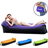 HAKE Inflatable Lounger Inflatable Couch Air lounger Air Chair Lounger Air chair Air Couch with Portable Storage Bag Wonderful Gift for Camping, Hiking, Swimming, Pool and Beach