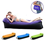 HAKE Inflatable Lounger Inflatable Couch Air Lounger Air Couch Water Resistant Inflatable Hammock with Travel Bag for Outdoor and Indoor use for Camping, Travelling, Fishing and Swimming