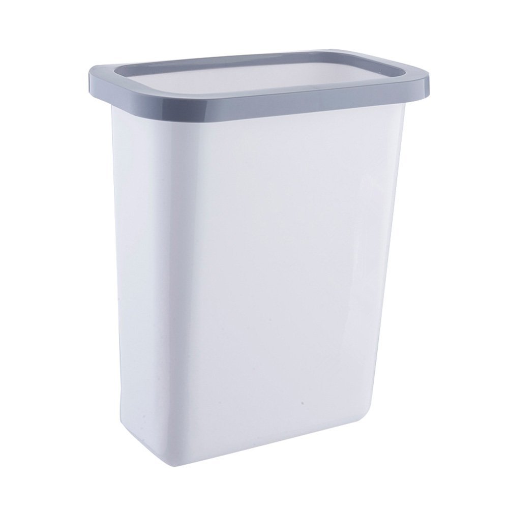 HaloVa Trash Can, Multifuctional Hanging Waste Bin, Recycling Wastebasket for Home Cabinet Office Kitchen Dorm Kid Room and More, Large, White