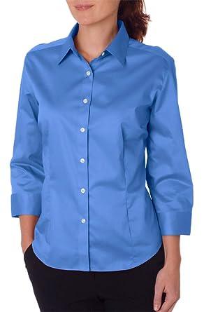 7597f1b174a Van Heusen Ladies  3 4-Sleeve Dress Twill at Amazon Women s Clothing store