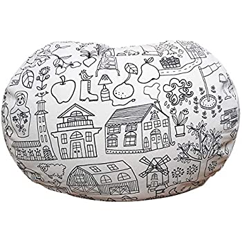 Terrific Stuffed Animal Storage Bean Bag Chair Bean Bag Cover For Organizing Kids Room Fits A Lot Of Stuffed Animals Large Evergreenethics Interior Chair Design Evergreenethicsorg