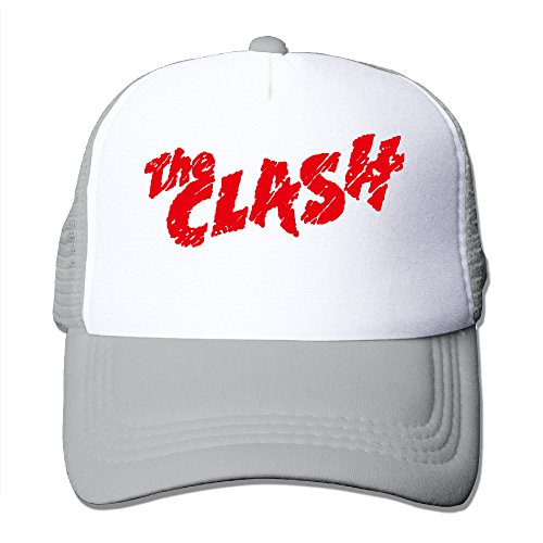 CCbros The Clash Rock Band Unisex Mesh Back Hat Caps One Size Fit All Ash