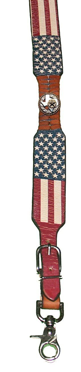 Custom Texas Rope and Star American Flag Leather Suspenders Galluses or Braces