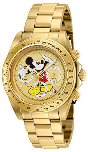- Invicta Men's Disney Limited Edition Quartz Watch with Stainless-Steel Strap, Gold, 20 (Model: 25196)