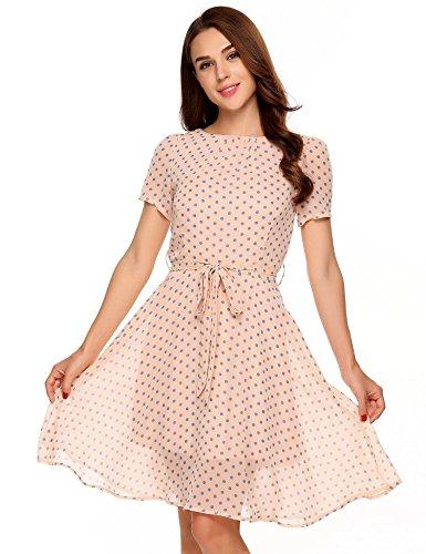 Belted Boatneck Dress - 4