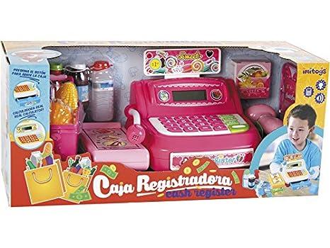 IMITOYS Caja Registradora Rosa Luces y Sonidos: Amazon.es: Juguetes y juegos