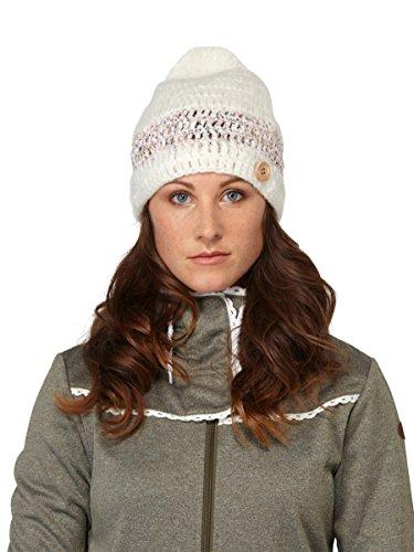 - Roxy Flower Power Knit Beanie Hat-(WBB0) Ivory