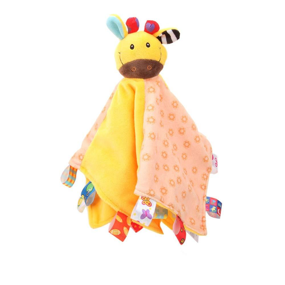 callm Baby Comfort Towel Soft Stuffed Animal Plush Security Blanket Soothing Kid Toy (33cmX33cm, B)