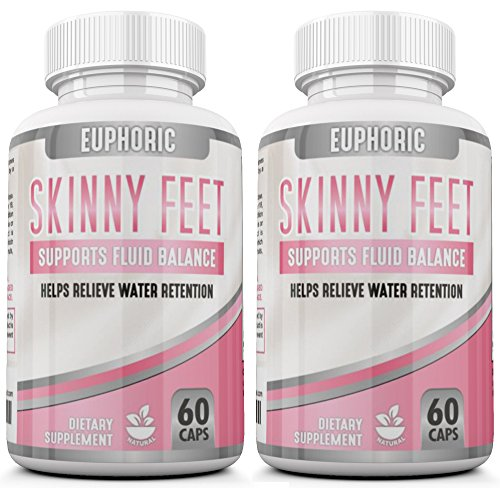 [2 Pack] Edema Swollen Ankle Legs Supplement Reduces swelling Bloating Natural Water Pill Diuretic Helps Relieve Achy swelling on the Legs Feet Calves Hands, Water Retention, Promotes Weight Loss