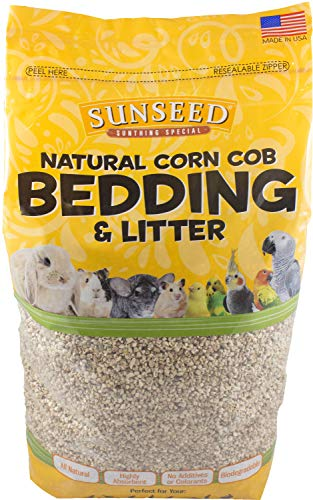Corn Bedding Cob (Sun Seed Company SSS18038 8-Pound 4-Pack Sunthing Special Corn Cob Small Animal Bedding, 500 Cubic Inch)