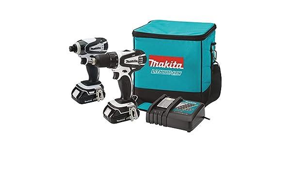 Renewed Makita CT200RW-R 18V LXT 2.0 Ah Cordless Lithium-Ion Drill Driver and Impact Driver Combo Kit