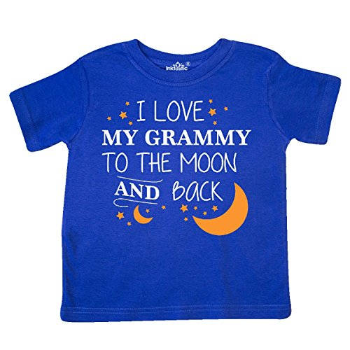inktastic - I Love My Grammy to The Moon and Toddler T-Shirt 3T Royal Blue 29644