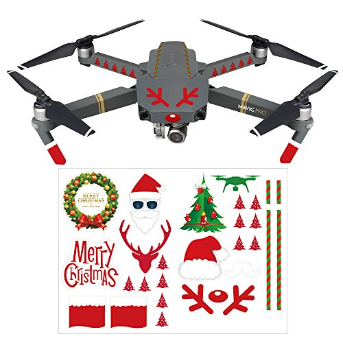 DJI Mavic Pro Air Stickers Set RCGEEK Christmas Skins Decals Drone Facial Expression Emoji 3M, 8 (Christmas Decal Set)