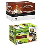 Deluxe Doughnut House KCups Light Roast Coffee Pods Bundle Featuring a Box Each of K Cup Pods From Donut House and Green Mountain Breakfast Blend Coffee Kcups. offers