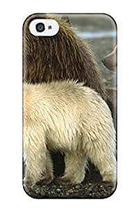 Hot Tpu Cover Case For Iphone/ 4/4s Case Cover Skin - Grizzly Bears