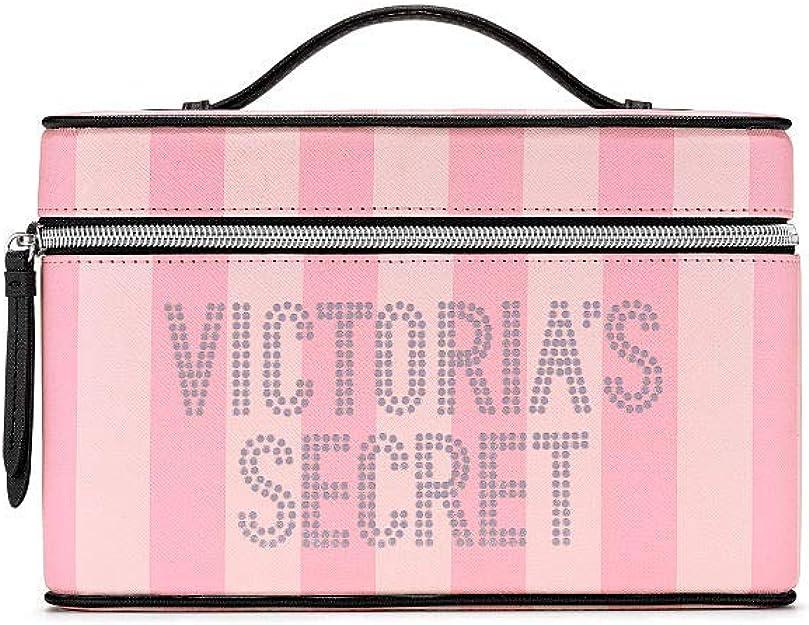 Victoria Secret Signature- Neceser a rayas: Amazon.es: Zapatos y complementos