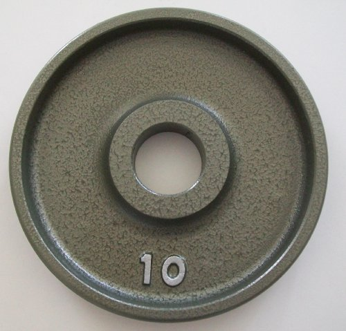 10 lb. Grey Machined Olympic Plates (Pair)