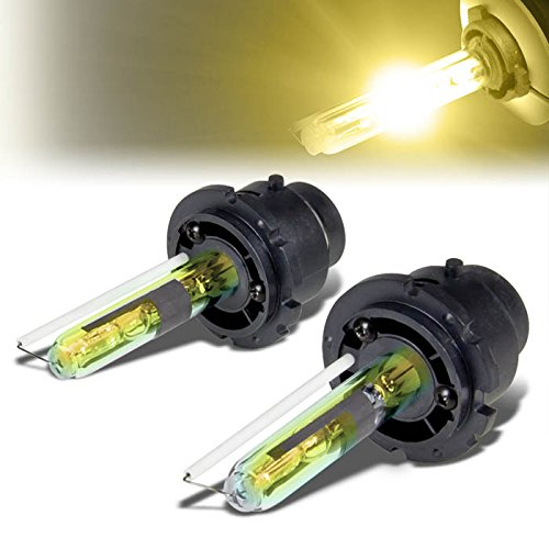 - Pair of D2S 3000K Yellow High/Low Beam HID Xenon Conversion 35W Light Bulbs