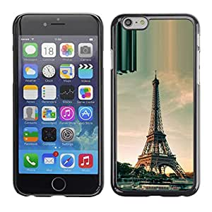 Impact Case Cover with Art Pattern Designs FOR Apple Iphone 6 Plus 5.5 Architecture Paris Eiffel Tower Day Betty shop