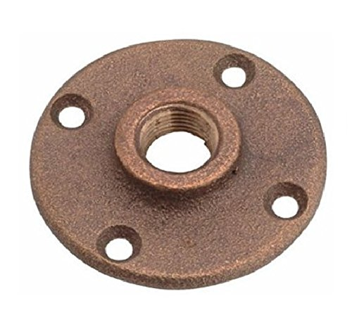 - Everflow BRFF0012-NL 1/2 Inch Female NPT Threaded Brass Floor Flange with Holes 125 Lead Free, Durable, Brass Construction, Higher Corrosion Resistance, Economical & Easy to Install
