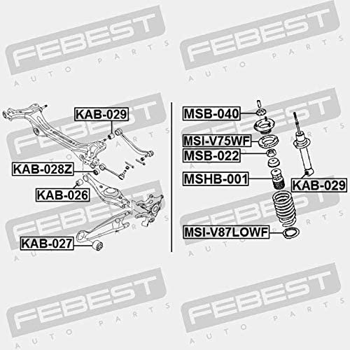 KAB-029 Febest SILENTBLOC TIRANTE TRASERO